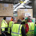 Visite Luxair Cargo Center P1000142