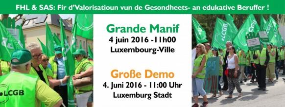 Webbanner Manif Santé FHL 4 Juni 2016